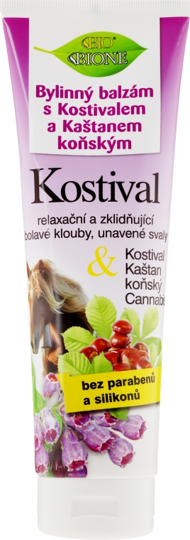 Balzam na nohy - Bione Cosmetics Cannabis Kostival Herbal Ointment with Horse Chestnut