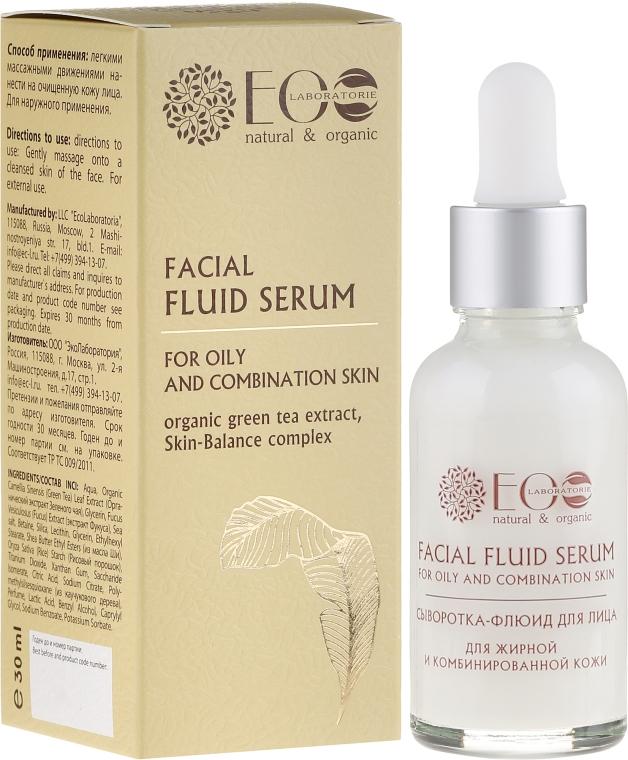 Sérum-flyuid na tvár pre mastnú a kombinovanú pleť - ECO Laboratorie Facial Fluid Serum