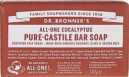 """Voňavky, Parfémy, kozmetika Mydlo """"Eukalyptus"""" - Dr. Bronner's Pure Castile Bar Soap Eucalyptus"""