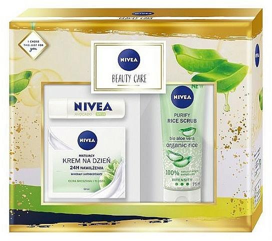 Sada - Nivea Beauty Care (f/cr/50ml + f/scr/75ml + balm/4.8g)