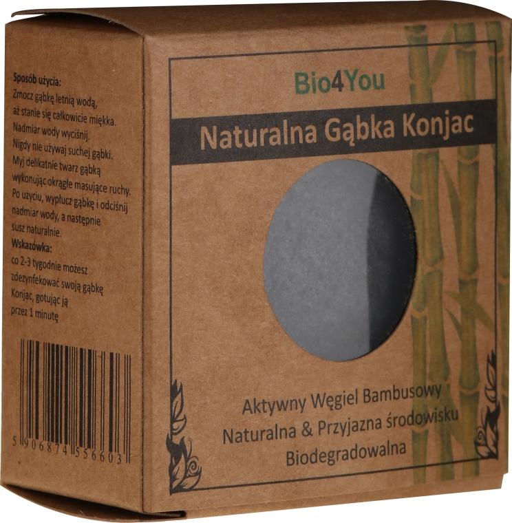 Prírodná konjacová spongia s aktívnym bambusovým uhlím - Bio4You