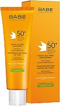 Voňavky, Parfémy, kozmetika Opaľovací krém pre mastnú pleť SPF 50+ - Babe Laboratorios Fotoprotector Facial Sunscreen