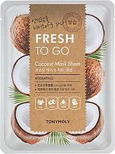 Voňavky, Parfémy, kozmetika Textilná maska s kokosovým olejom - Tony Moly Fresh To Go Coconut Mask Sheet Hydrating