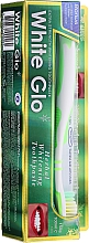 Voňavky, Parfémy, kozmetika Sada s bielo-zelenou zubnou kefkou - White Glo Herbal White (t/paste/100ml + t/brush/1pc)