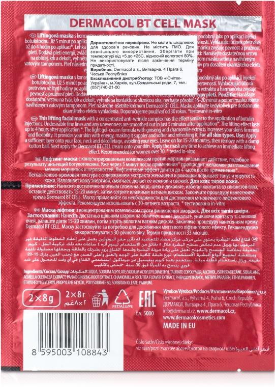 Intenzívna sťahovacia maska - Dermacol BT Cell Intensive Lifting Mask  — Obrázky N2