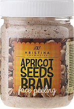Voňavky, Parfémy, kozmetika Marhuľový tvár peeling - Hristina Cosmetics Apricot Seeds Bran Face Peeling