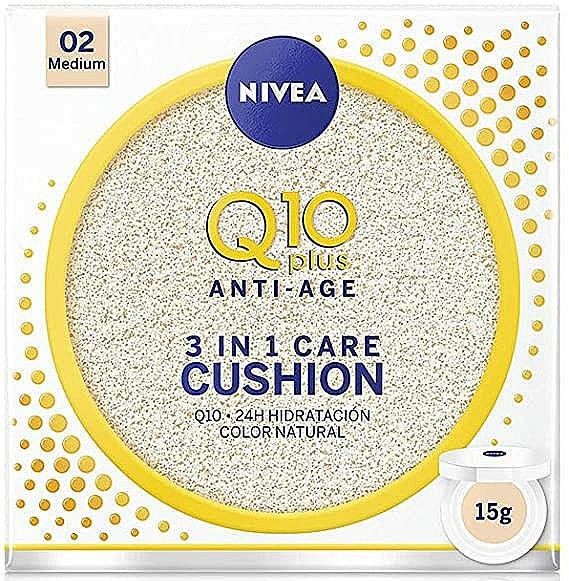 Tónovací cushion - Nivea Q10 Plus Anti-Aging Radiance BB Cushion — Obrázky N1