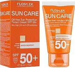 Voňavky, Parfémy, kozmetika Ochranný tonizačný krém pre zmiešanú a mastnú pleť SPF 50 - Floslek Sun Protection Cream SPF50+