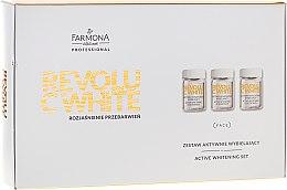Voňavky, Parfémy, kozmetika Sada - Farmona Revolu C White Set (concentrate/10x5ml + mask/base/10x12ml + activator/10x2g)