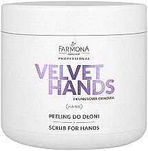 Voňavky, Parfémy, kozmetika Scrub na ruky s vôňou ľalií a orgovánu - Farmona Professional Velevet Hands Scrub For Hands