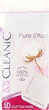 "Voňavky, Parfémy, kozmetika Vatové kozmeticke tampony ""Pure Effect"" , 50ks - Cleanic Face Care Cotton Pads"