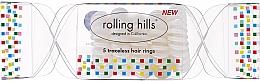 Voňavky, Parfémy, kozmetika Gumička do vlasov, priehľadná - Rolling Hills 5 Traceless Hair Rings Cracker