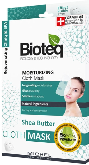 Textilná maska na tvár - Bioteq Moisturizing Cloth Mask — Obrázky N1