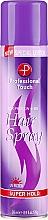 Voňavky, Parfémy, kozmetika Lak na vlasy - Professional Touch Silk Protein + B5 Super Hold Hair Spray