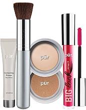 Voňavky, Parfémy, kozmetika Sada - Pur Minerals Best Sellers Starter Kit Light (primer/10ml+found/4.3g+bronzer/3.4g+mascara/5g+brush)