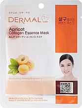 Voňavky, Parfémy, kozmetika Maska s kolagénom a marhuľovým extraktom - Dermal Apricot Collagen Essence Mask