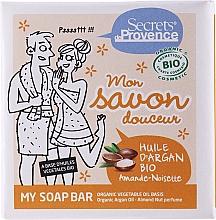 Voňavky, Parfémy, kozmetika Mydlo - Secrets De Provence My Soap Bar Organic Argan Oil Almond-Hazelnut