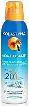 Voňavky, Parfémy, kozmetika Hydratačný sprej na opaľovanie - Kolastyna Aqua Aksamit SPF 20