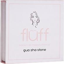 Voňavky, Parfémy, kozmetika Masážny kameň na tvár, ružový - Fluff Gua Sha Stone