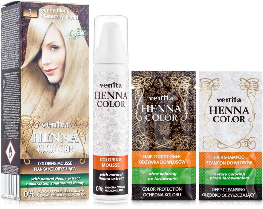Farbiací mušt na vlasy - Venita Henna Color Coloring Mousse