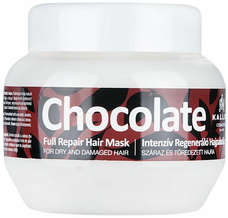 Maska na suché a poškodené vlasy - Kallos Cosmetics Chocolate Mask