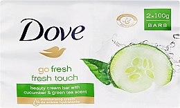 Voňavky, Parfémy, kozmetika Krém-mydlo pre telo - Dove Go Fresh Cream Bar With Cucumber & Green Tea Scent