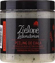 """Voňavky, Parfémy, kozmetika Čistiaci detoxikačný peeling na telo """"Rozmarín a petržlen"""" - Zielone Laboratorium"""