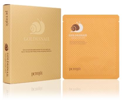 Hydrogélová maska na tvár so zlatom a slimákom - Petitfee & Koelf Gold & Snail Hydrogel Mask Pack