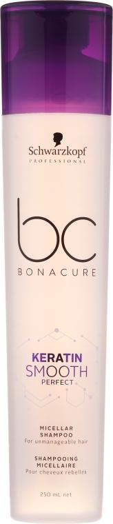Šampón pre nepoddajné vlasy - Schwarzkopf Professional Bonacure Keratin Smooth Perfect Micellar Shampoo