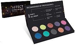 Voňavky, Parfémy, kozmetika Paleta očných tieňov - Affect Cosmetics Party All Night Eyeshadow Palette
