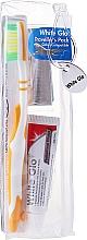 Voňavky, Parfémy, kozmetika Cestovná sada pre ústnu hygienu, oranžová - White Glo Travel Pack (t/paste/24g + t/brush/1 + t/pick/8)