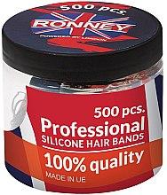 Voňavky, Parfémy, kozmetika Silikónová guma, čierna - Ronney Professional Silicone Hair Bands
