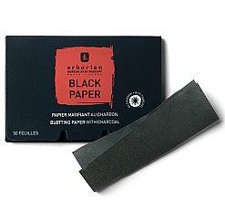 Voňavky, Parfémy, kozmetika Čierne matovacie obrúsky s dreveným uhlím - Erborian Blotting Paper With Charcoal