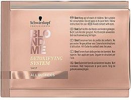 Voňavky, Parfémy, kozmetika Čistiaci detoxikačný koncentrát na vlasy - Schwarzkopf Professional BlondMe Detoxifying System Shot