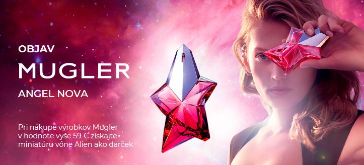 Pri nákupe výrobkov Mugler v hodnote vyše 59 € získajte miniatúru vône Alien ako darček