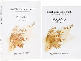"Voňavky, Parfémy, kozmetika Textilná maska ""Poľsko"" - Calluna Medica Poland Nourishing And Moisturizing Biocellulose Facial Mask"