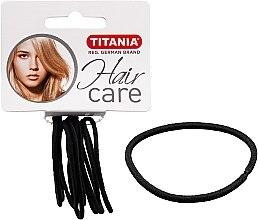 Voňavky, Parfémy, kozmetika Spony na vlasy, elastické, 9 ks, čierne, 2 mm - Titania