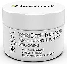 Voňavky, Parfémy, kozmetika Čierno-biela tvárová maska s aktívnym uhlím - Nacomi White & Black Face Mask