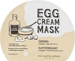 Voňavky, Parfémy, kozmetika Textilná vaječná maska na tvár - Too Cool For School Egg Cream Mask Firming