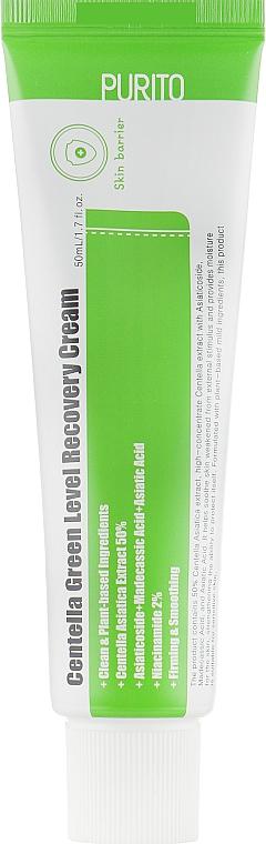 Upokojujúci krém na regeneráciu pokožky tváre s pupočníkom - Purito Centella Green Level Recovery Cream