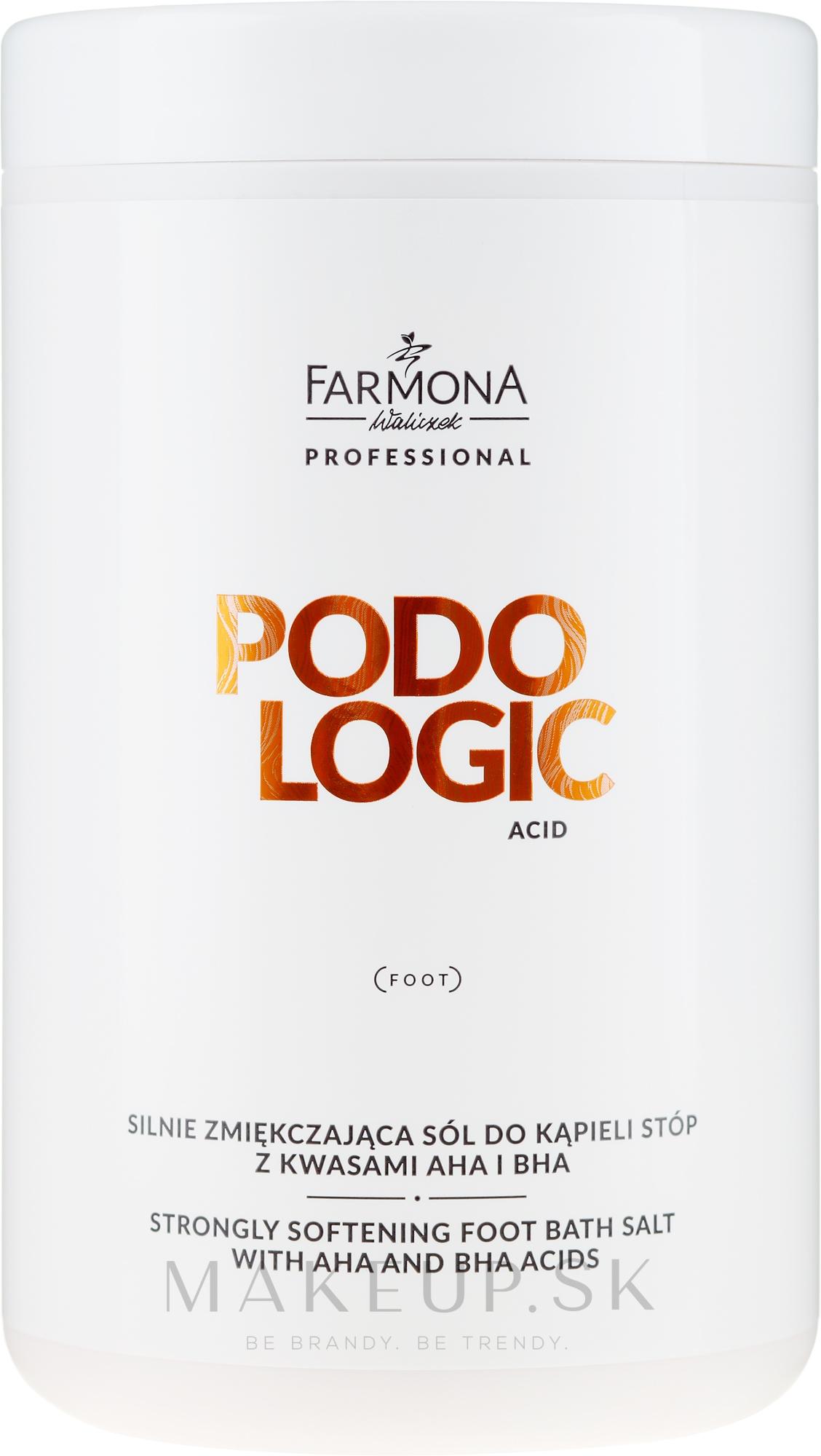 Zmiernená soľ na nohy - Farmona Podologic Acid Strongly Softening Foot Bath Salt — Obrázky 1500 g