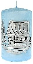 Voňavky, Parfémy, kozmetika Dekoratívna sviečka, malý valec, 7x10 cm, modrá - Artman Ice land