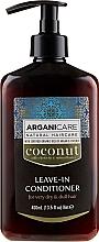 Voňavky, Parfémy, kozmetika Nezmazateľný kondicionér pre veľmi suché a matné vlasy - Arganicare Coconut Leave-In Conditioner For Very Dry & Dull Hair