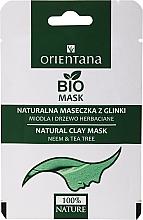 """Voňavky, Parfémy, kozmetika Hlinená maska na mastnú pleť """"Med a čajovník"""" - Orientana (papierové balenie)"""