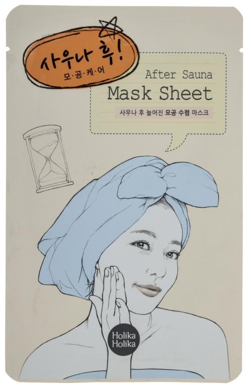 Textilná maska po vodných procedúrach, zúžujúca póry - Holika Holika After Mask Sheet Sauna
