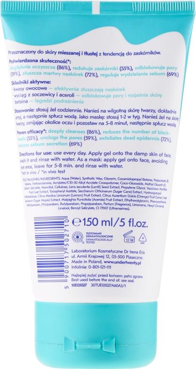 Regulačná maska + čistiaci gél + peeling-scrub 4v1 - Under Twenty Anti! Acne 4 in 1 Exfoliarting Gel — Obrázky N2