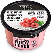 """Voňavky, Parfémy, kozmetika Telový peeling """"Malinový krém"""" - Organic Shop Body Scrub Organic Raspberry & Sugar"""