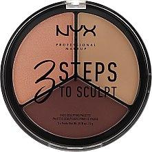 Voňavky, Parfémy, kozmetika Paleta korektorov na tvár - NYX Professional Makeup 3 Steps To Sculpting Palette