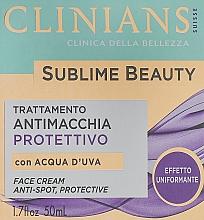 Voňavky, Parfémy, kozmetika Ochranný krém na zjednotenie tónu pleti s hroznovou vodou - Clinians Sublime Beauty Antimacchia Protettivo Face Cream