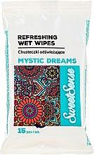 Voňavky, Parfémy, kozmetika Vlhké, osviežujúce servítky, 15ks - Sweet Sense Mystic Dreams Wipes